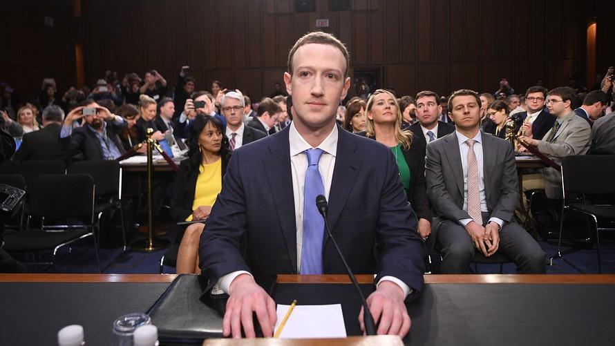 Mark Zuckerberg in the hot chair in front of US congressmen.