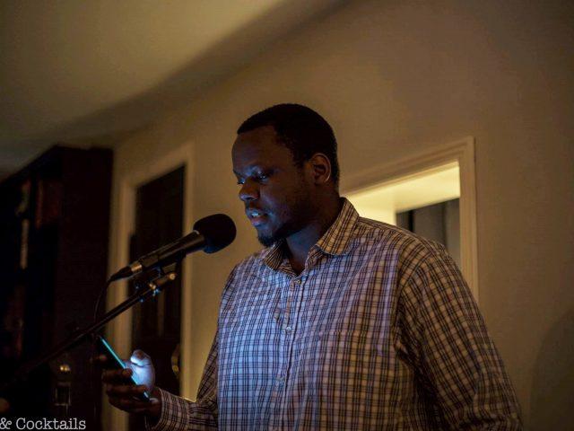 Eric Maganga reading poetry (Photo: Michael Juhl Svendsen)