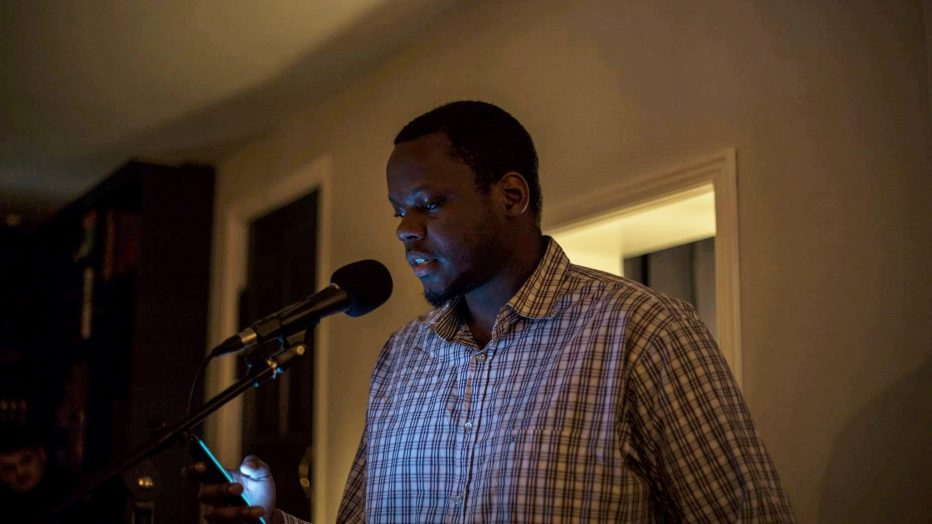 Eric Maganga reading poetry (Photo: Michael Juhl Svendsen)