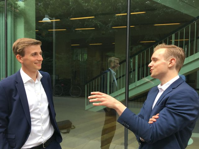 Young and ambitious, Kristoffer Lundberg (left) and Andreas Broby (right) are the cofounders of CFO Insights (Photo: David Fulop)