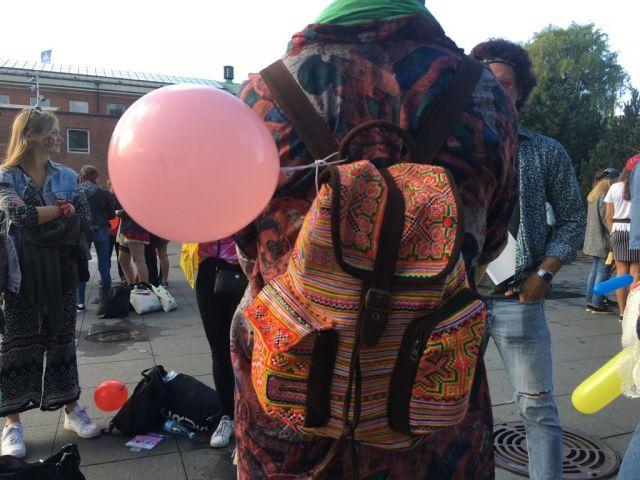 Ballon and backpack