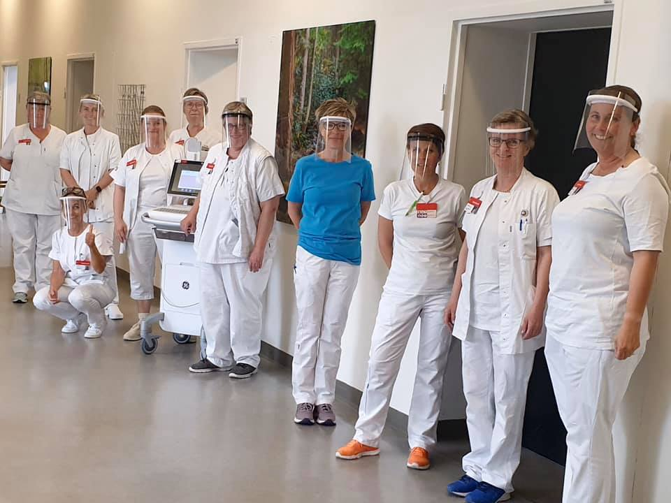 Health care personnel at Gentofte Hospital