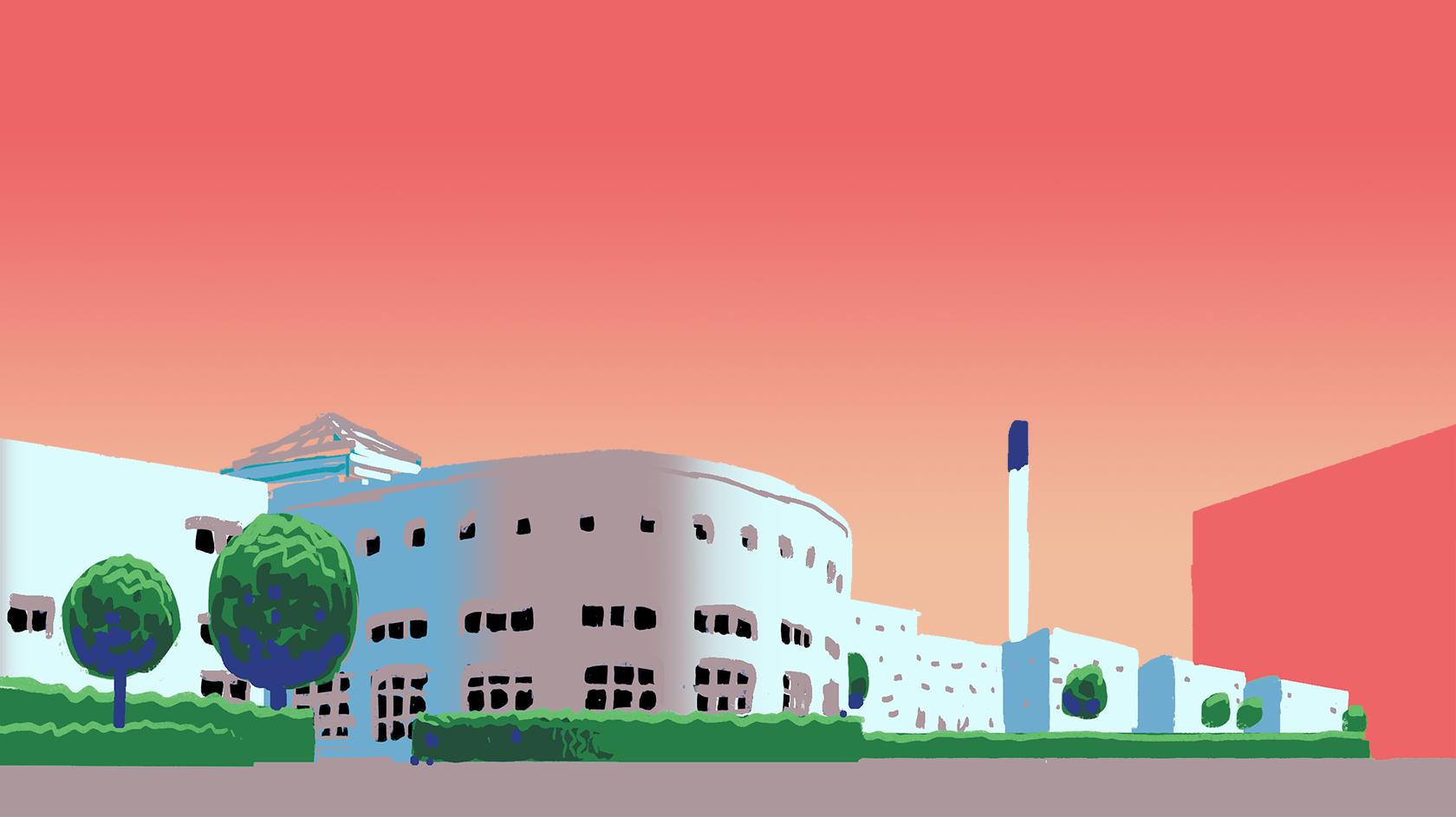 Illustration of Copenhagen Business School
