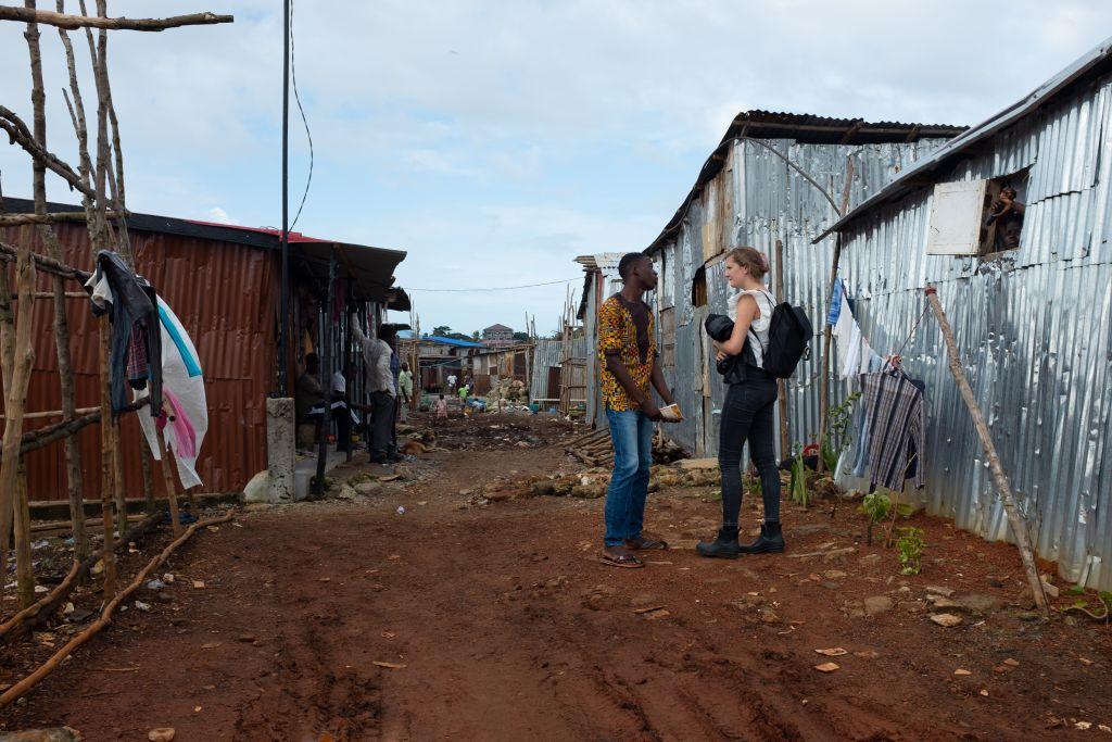 Afrikansk slumkvarter