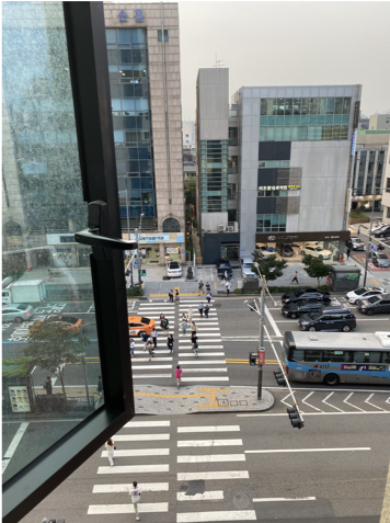 a view from a window in South Korea