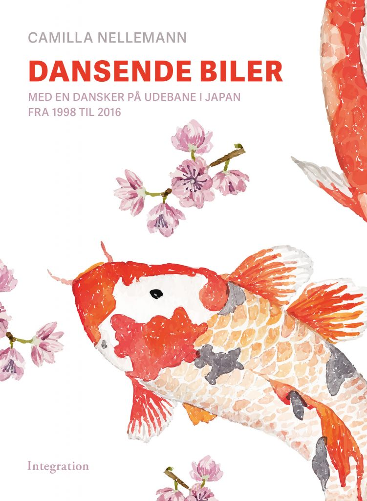 Book cover with Japanese koi fish