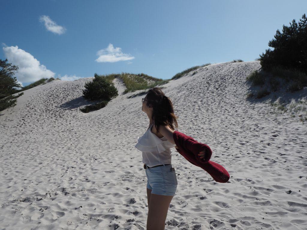 woman on a beach on Bornholm