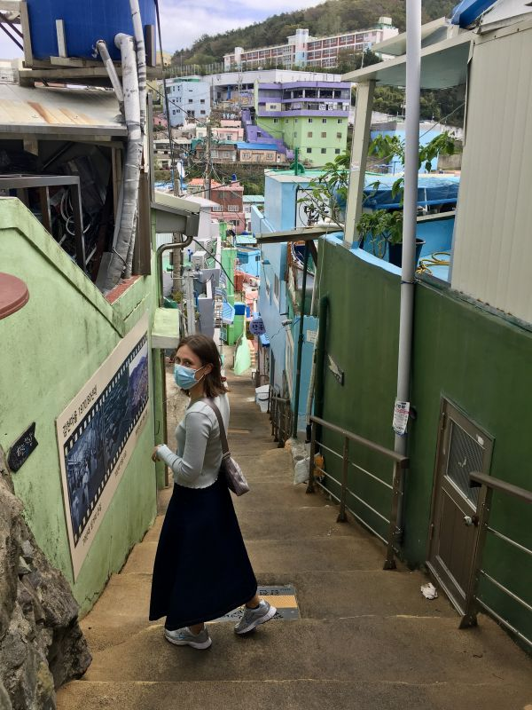 young woman in South Korea
