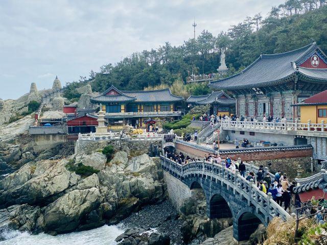 temples on the coastline South korea