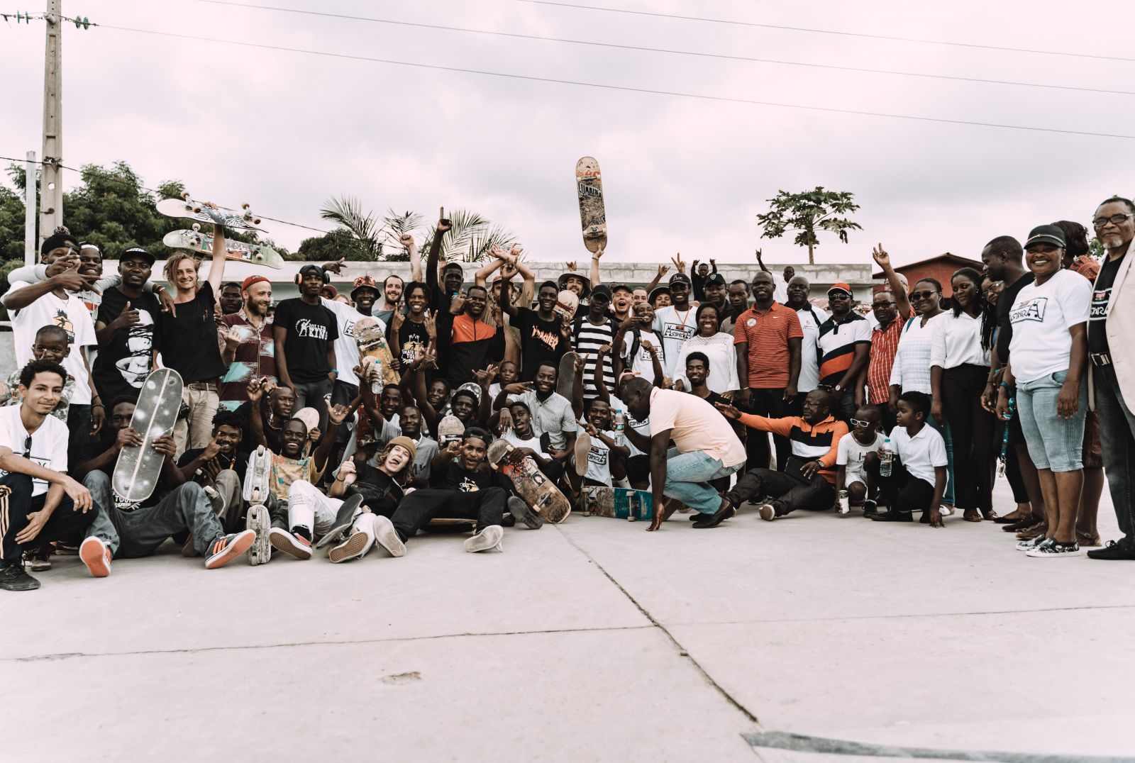 group of young people in Angola