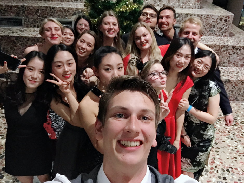 Gala party: group of happy people