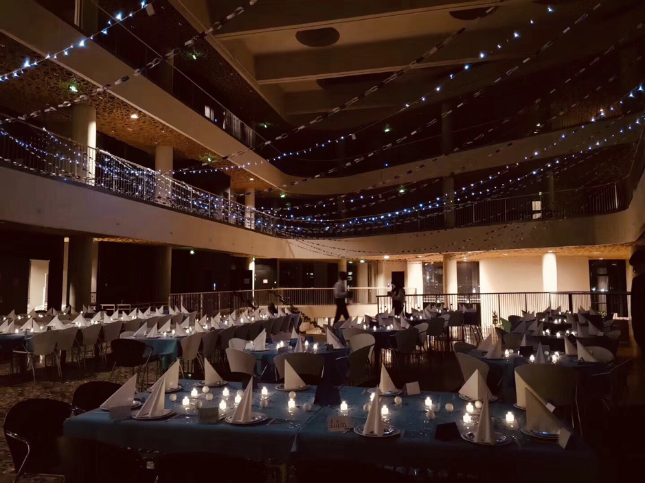 party room and decorations