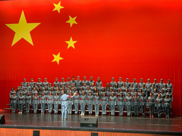 A big, Chinese choir