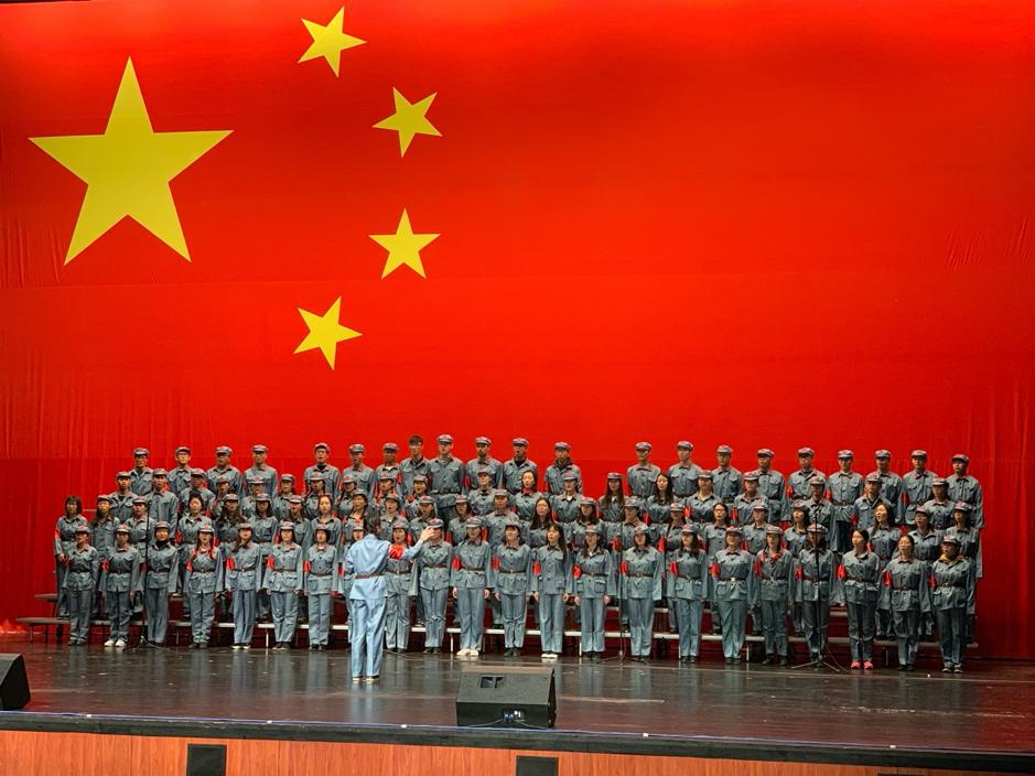 A big, Chinese choir