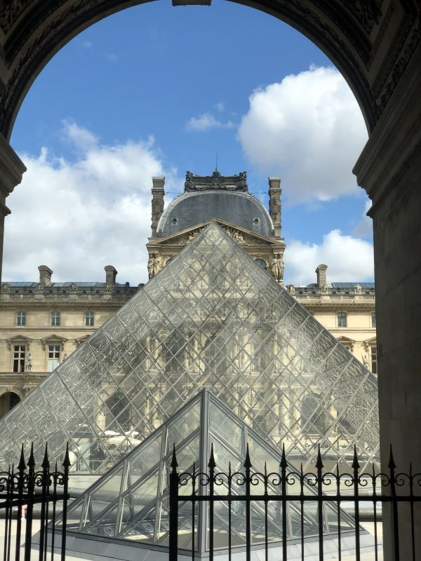 Outside Louvre in Paris