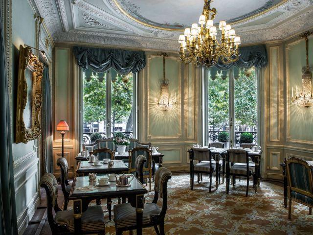 Inside restaurant in Paris