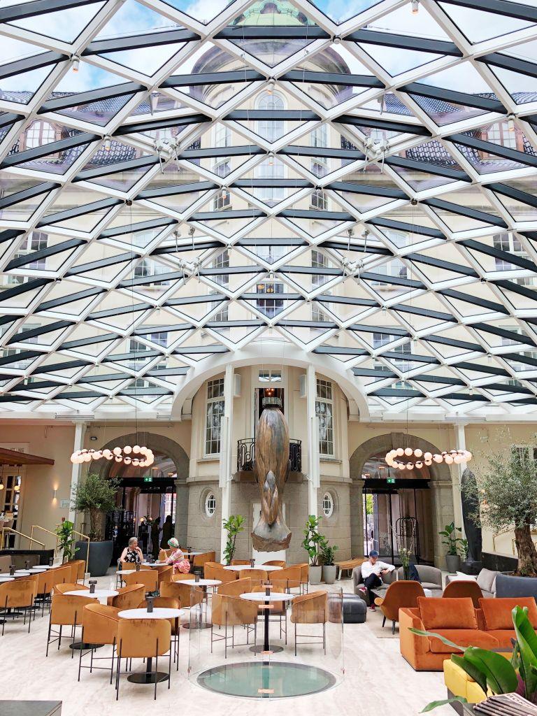 Inside Villa Hotel i Copenhagen.