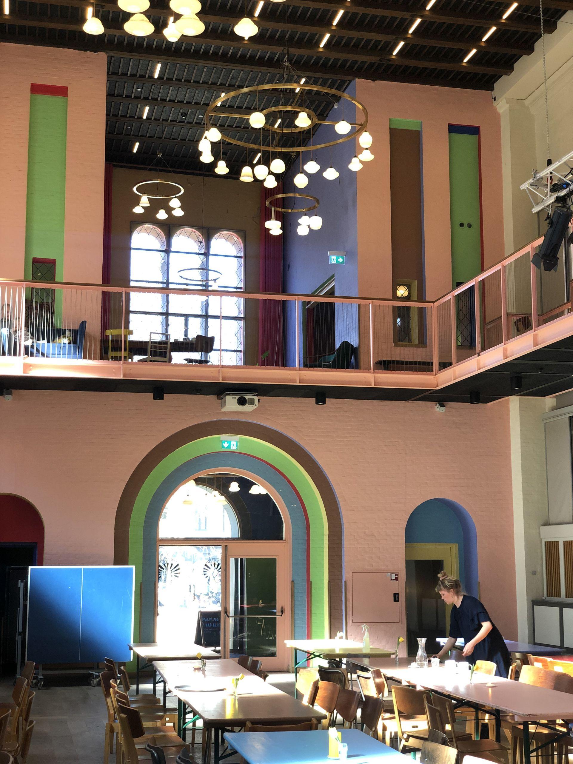 inside Cafe Absalon in Copenhagen