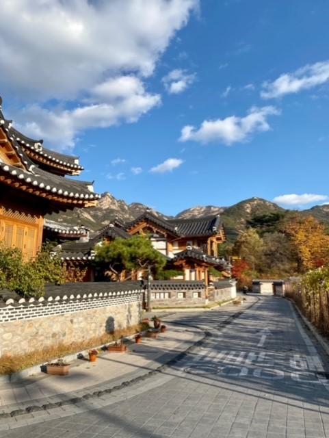 Mountain scape outside Seoul