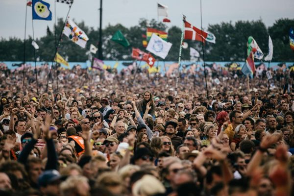 Thousand of people at Roskilde Festival