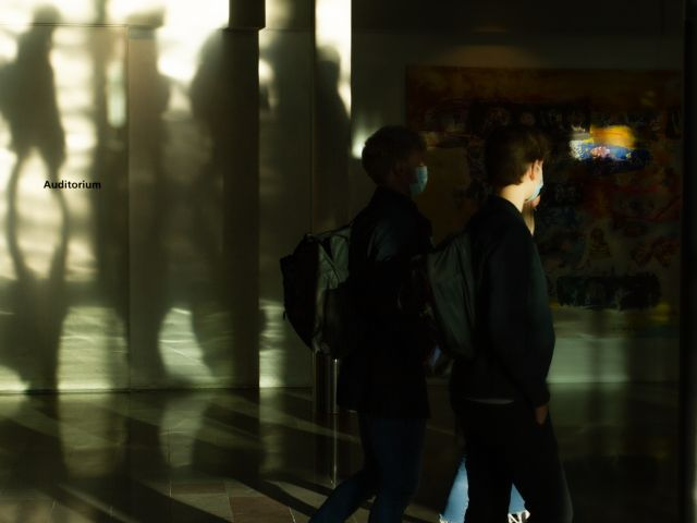Shadows of students