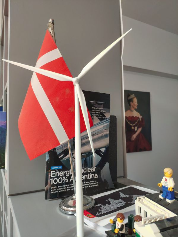 Danish flag and windmill