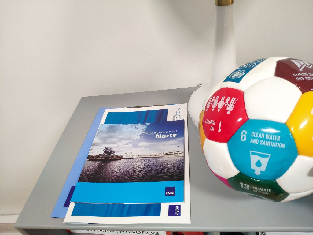 a book and a football