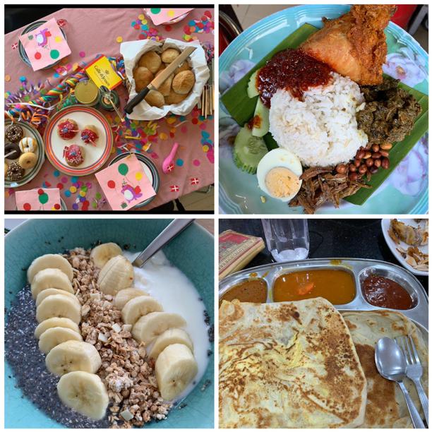 Malaysian and Danish food