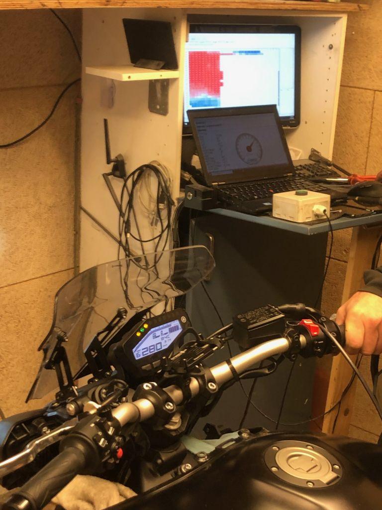testing motorbike