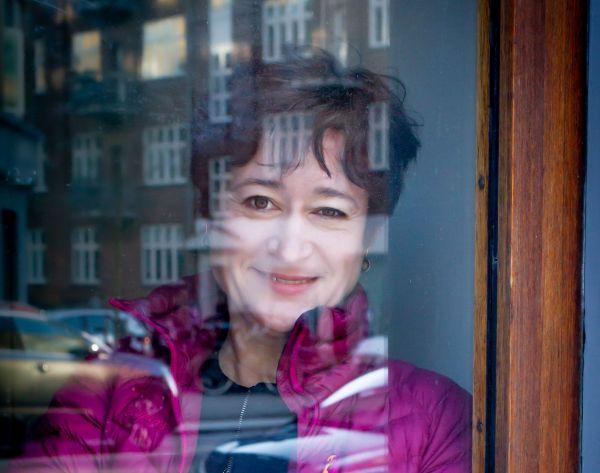 portrait of woman - reflection in window