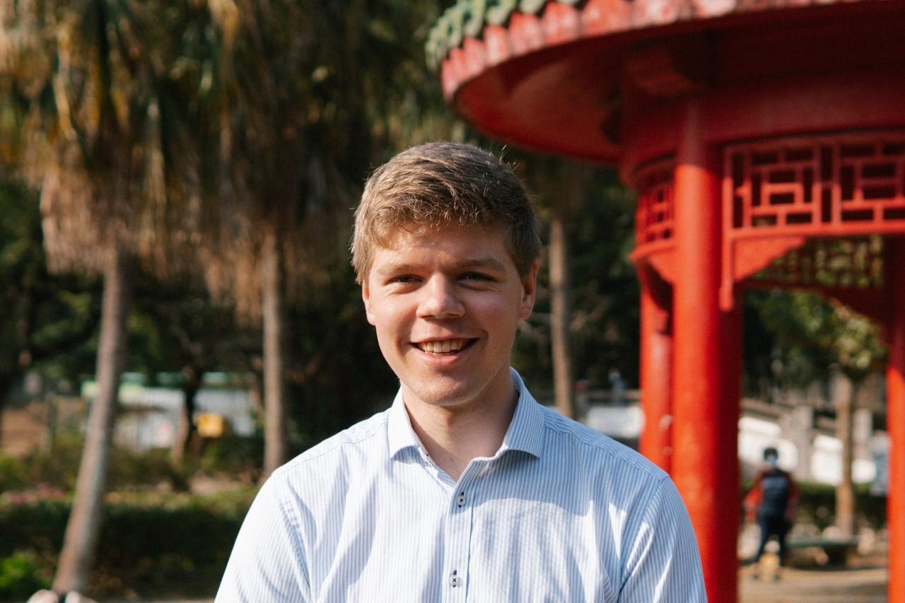 Young man in Hong Kong