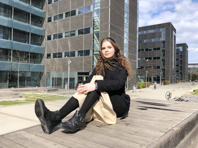 portrait of woman outside CBS