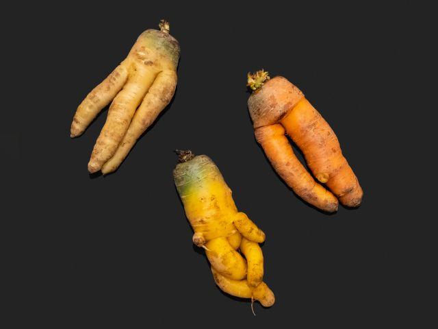 Deformed carrots