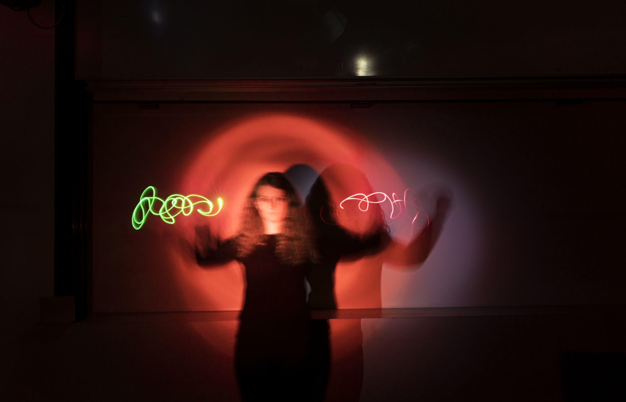 girl with swirls