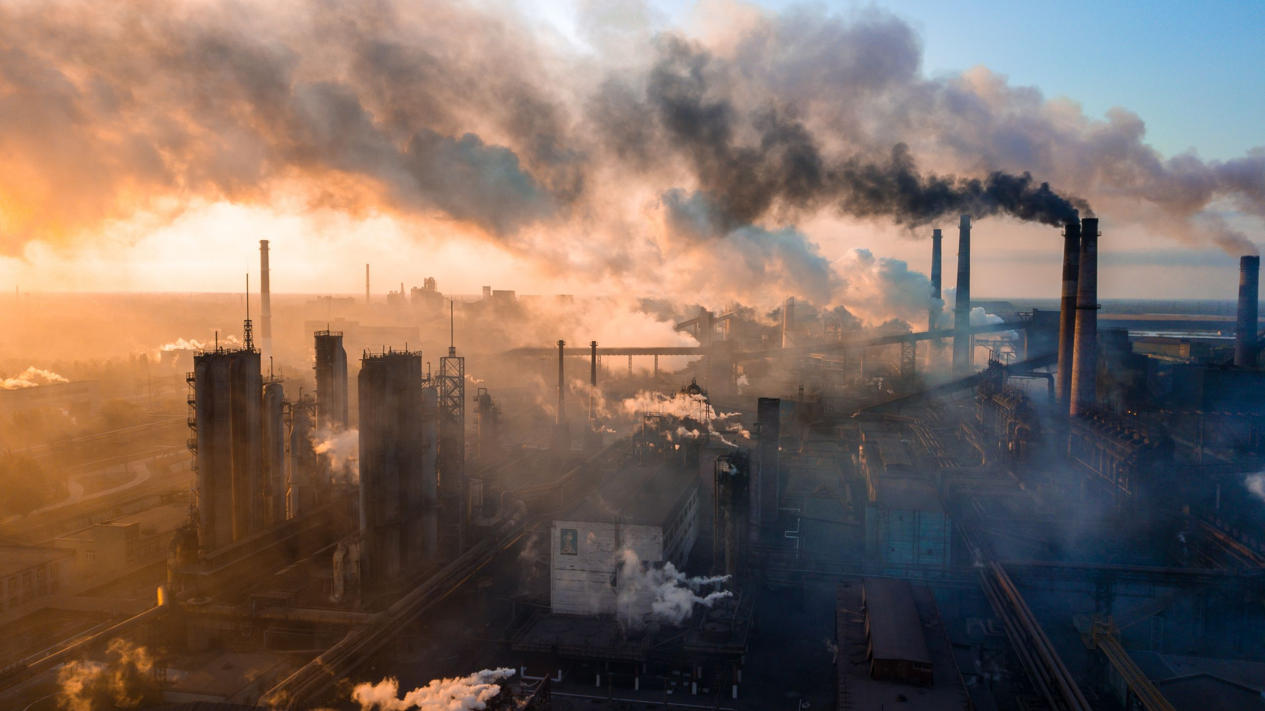 Industrial area polluting