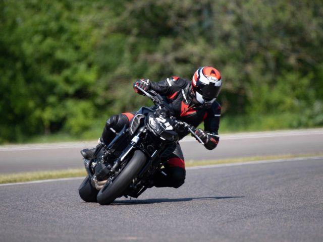 motorbike in a race
