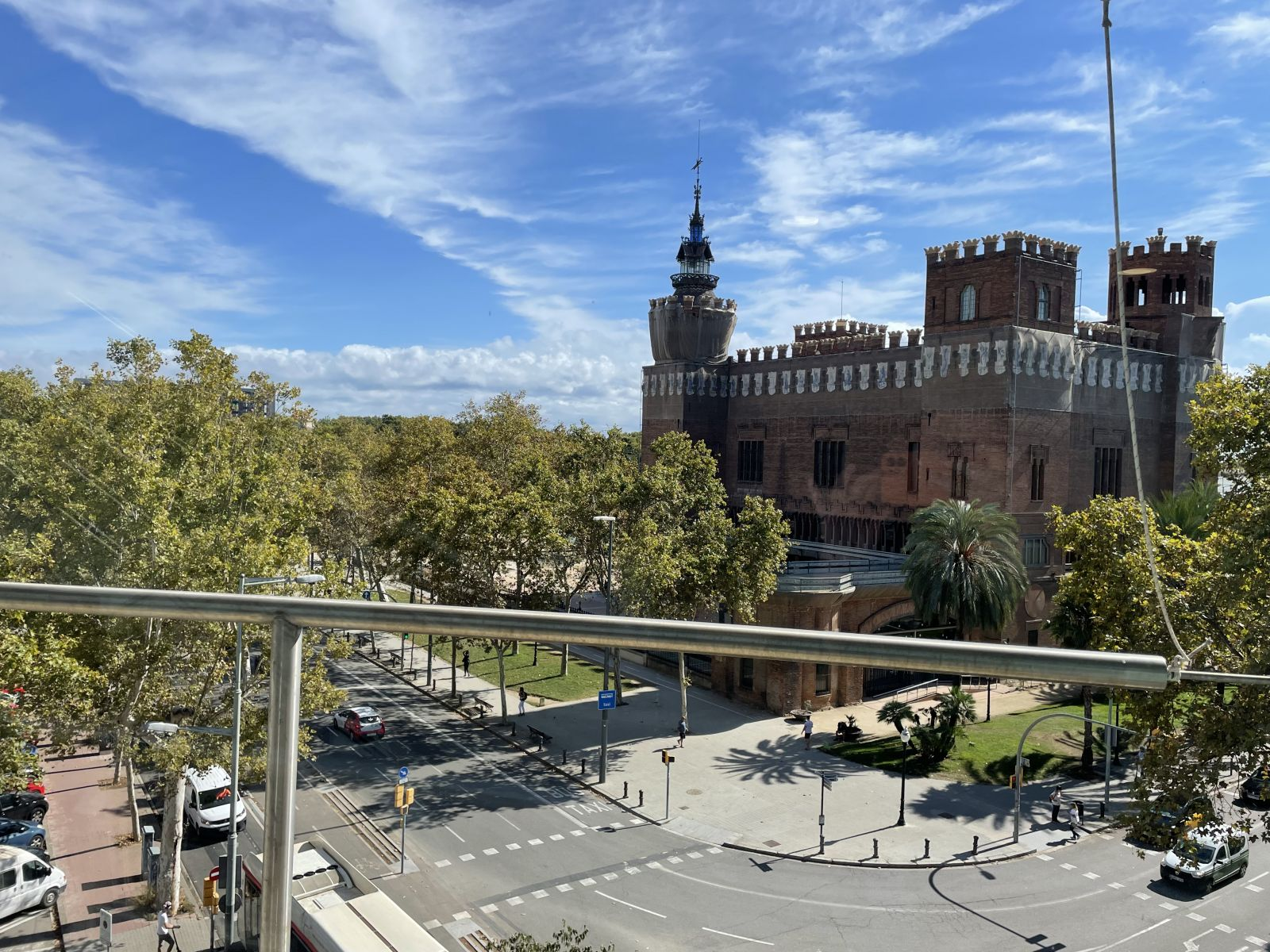 View from University in Barcelona