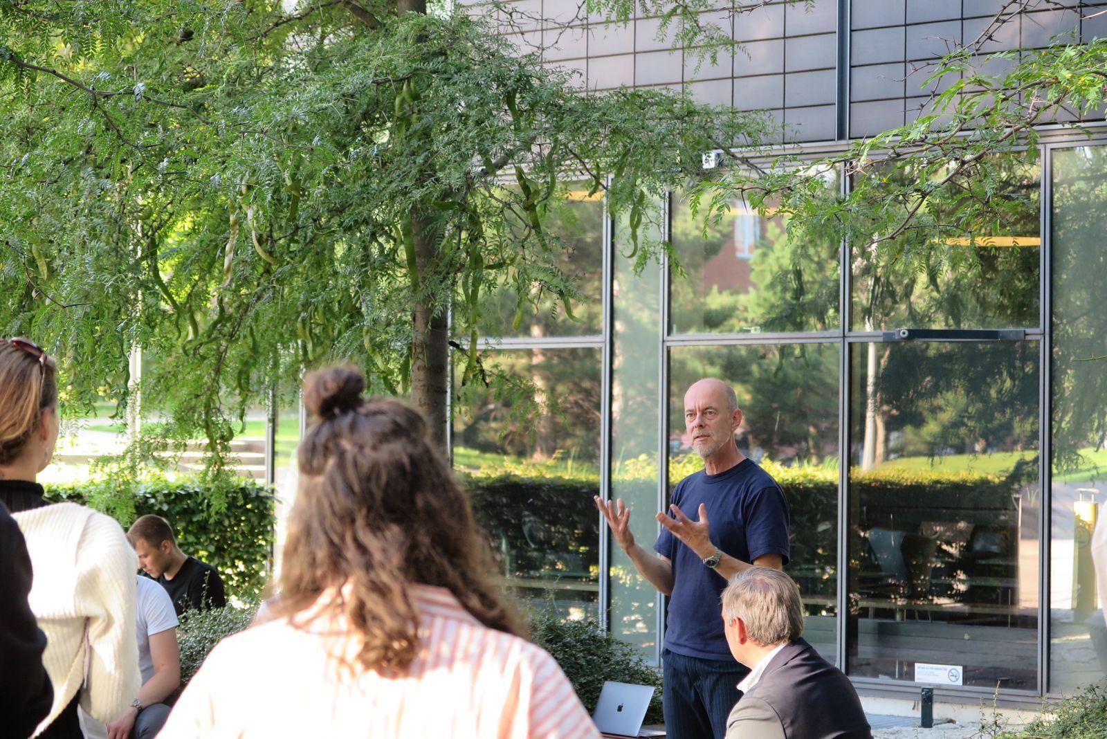 Man holding a speech